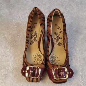 Tiger print heels